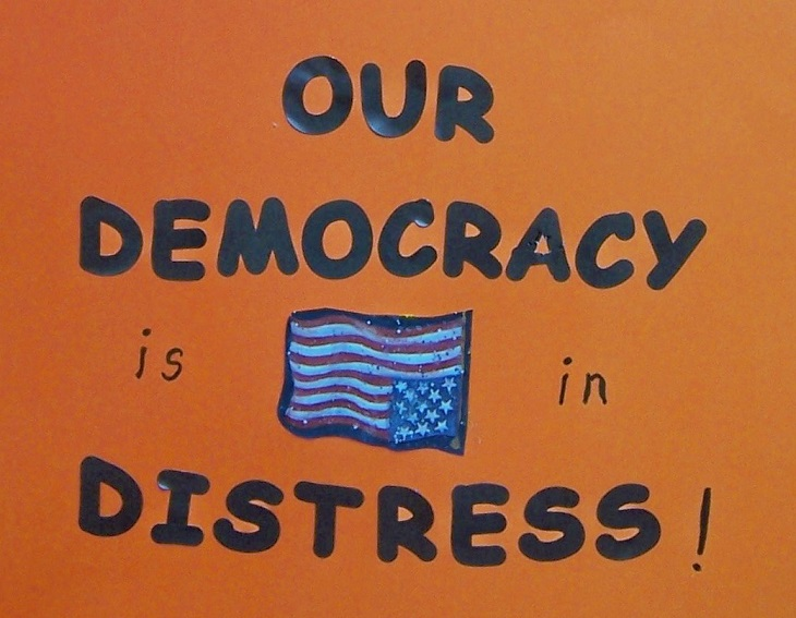 our-democracy-is-in-distress-violence-corruption-Kritisches-Netzwerk-Scheindemokratie-Fassadendemokratie-Pseudodemokratie-Republican-Democratic-Party-Republicans-Democrats-Entdemokratisierung