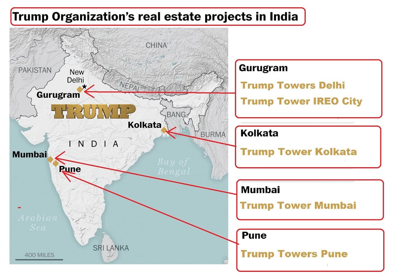 Donald-Trump-Business-Interests-India-Towers-New-Dehli-Ascott-IREO-City-Kolkata-Mumbai-Pune-Kalkutta-Indien-Gurugram-Kritisches-Netzwerk