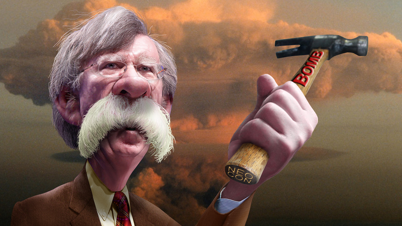 John-Robert-Bolton-Kritisches-Netzwerk-Volksverhetzung-warmonger-Nationaler-Sicherheitsberater-rabble-rouser-Rattenfaenger-aggression-policy-Aggressionspolitik-Demagogie