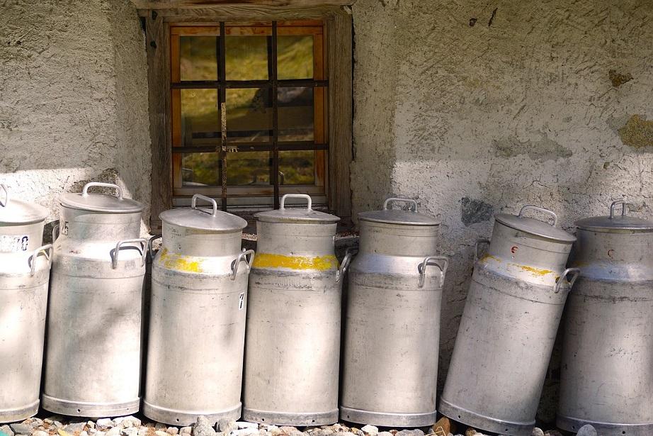 GroßZüGig Alte Milchkanne Alu Waren Des TäGlichen Bedarfs Bauer
