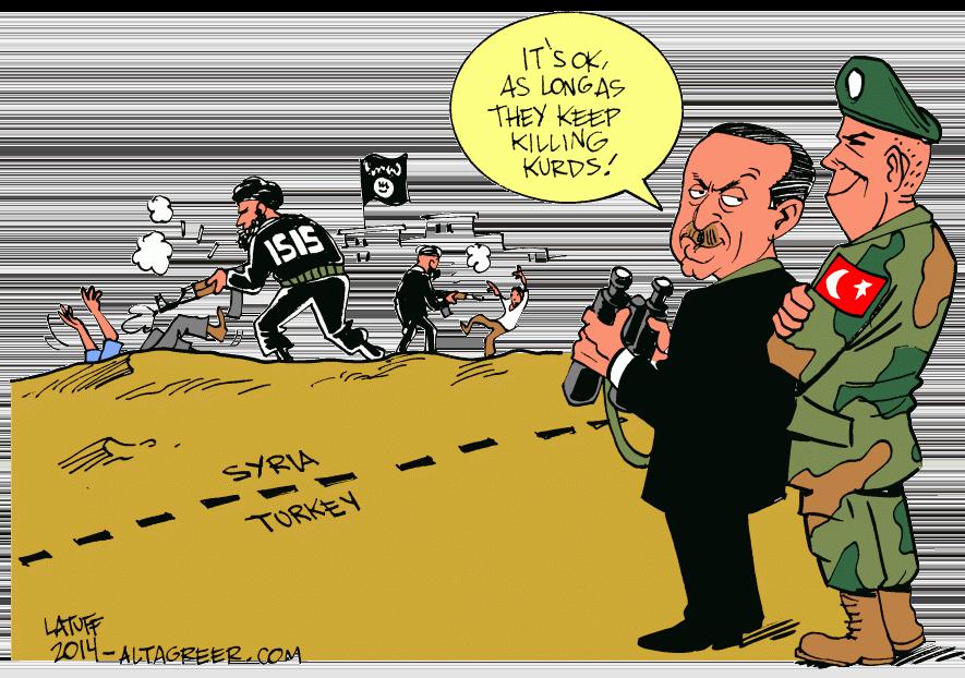Bildergebnis für erdogan kurden karikatur is